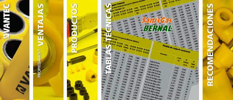 Tablas tecnicas para caños de Gas SanitGas