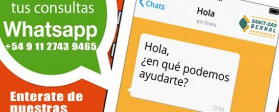 WhatsApp de SanitGas Bernal